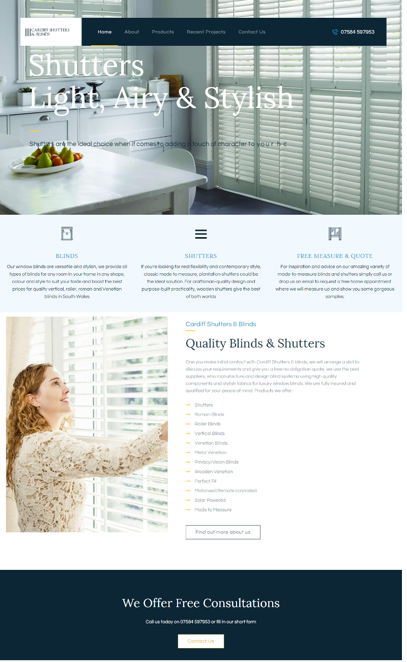 cardiff shutters and blinds new website