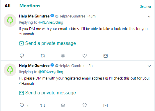 twitter gumtree ad scam
